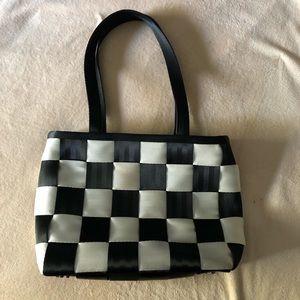 Harvey's seatbelt bag checkerboard